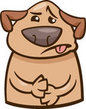 Illustration en difficulté de bande dessinée de chien d'humeur Photos stock