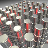 Illustration en gros plan des granules boisés en métal Images stock