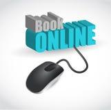 illustration en ligne de concept de souris de livre Photographie stock libre de droits