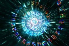 Illustration en spirale moderne de Digital de résumé sur un fond multicolore qui est sur le point d'éclater illustration de vecteur