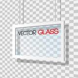 Illustration en verre de cadre sur un fond à carreaux Photos stock