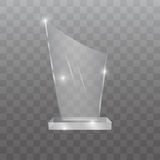 Illustration en verre de vecteur de récompense de trophée Photo stock