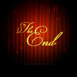 The End on Curtain. Illustration of The End message on curtain Stock Image
