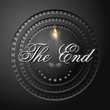 The End Screen with Film Strip. Illustration of The End screen with film strip background Royalty Free Stock Images