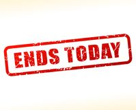 Ends today text buffered. Illustration of ends today text buffered on white background Royalty Free Stock Images