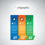 Illustration ENV de vecteur d'infographics de trois options Image stock
