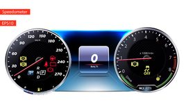 Illustration ENV 10 de vecteur de tableau de bord de voiture illustration de vecteur