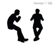 Illustration ENV 10 des Mannes in der Gespräch Intimate-Gesprächshaltung auf weißem Hintergrund vektor abbildung