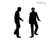 Illustration ENV 10 des Mannes in gehender Haltung auf weißem Hintergrund Stockfotos