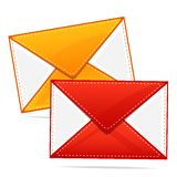 Colorful Envelope Stock Photography