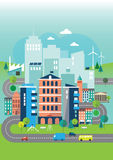 Illustration Of Environmental Eco City Stock Photos