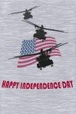 Illustration eps10 de vecteur de carte postale de Jour de la Déclaration d'Indépendance Photos libres de droits