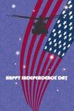 Illustration eps10 de vecteur de carte postale de Jour de la Déclaration d'Indépendance Photos stock