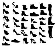 Illustration eps10 de vecteur de silhouette de chaussures Photographie stock libre de droits