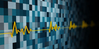 Illustration of Equalizer, or electrocardiogram Stock Photography