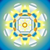Illustration of esoteric mandala Stock Image