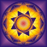 Illustration of esoteric mandala Royalty Free Stock Photography