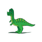 Illustration espiègle de dinosaure Photo libre de droits
