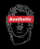Illustration esthétique de T-shirt de Vaporwave Vecteur de slogan de typographie pour l'impression de T-shirt illustration libre de droits