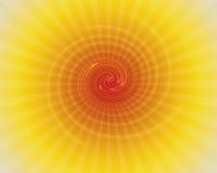 Illustration et rayon de soleil spiralés Photos stock
