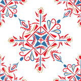 illustration of ethnic seamless damask pattern. Stock Photo