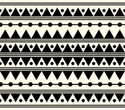 Illustration ethnique noire et blanche tribale de modèle de vecteur Photographie stock