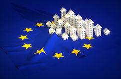 Illustration of EU real-estate development Royalty Free Stock Images