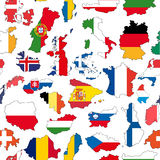 Europe country seamless pattern Royalty Free Stock Photography