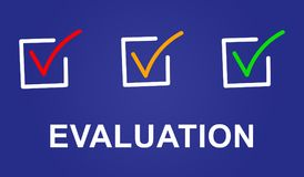 Concept of evaluation. Illustration of an evaluation concept Royalty Free Stock Photos