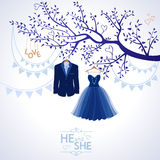 He and she Royalty Free Stock Images