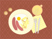 Illustration of a evening meal Stock Photo