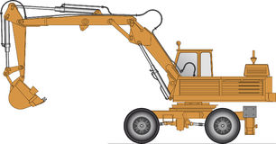 Illustration of a excavator Stock Images