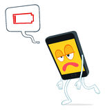 Illustration of exhausted smartphone Stock Photo