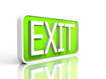 Illustration of a  exit sign Stock Photography