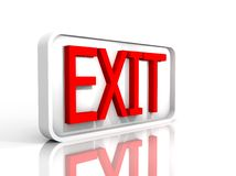 Illustration of a  exit sign Royalty Free Stock Images
