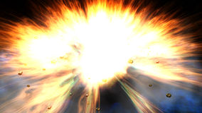 Illustration of an Explosion Stock Image
