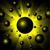 Illustration of explosion yellow balls Stock Images