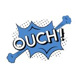 Illustration of explosive cartoon OUCH! Royalty Free Stock Photo