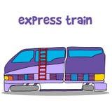 Illustration of express train cartoon Royalty Free Stock Photos