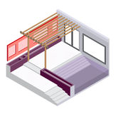 Illustration of exterior room concept Royalty Free Stock Photography