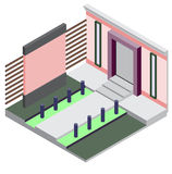 Illustration of exterior room concept Stock Images