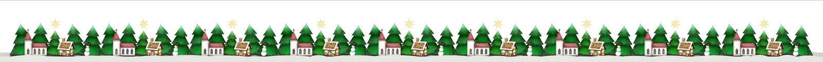 Christmas border isolated on white stock illustration