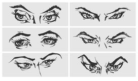 Illustration of eyes Royalty Free Stock Photos