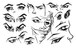 Illustration of eyes. Royalty Free Stock Photography