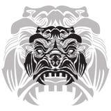 illustration fâchée de gorrila dans la couleur blanche et noire illustration libre de droits