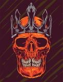Illustration fâchée de vecteur de couronne de crâne Images stock