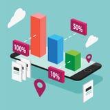 Illustration för affär med Iphone Royaltyfri Bild