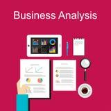 Illustration för affärsanalys Plana designillustrationbegrepp för affären, planläggning, ledning, karriär, affärsstrategi Royaltyfria Foton