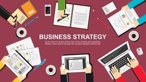 Illustration för affärsstrategi Royaltyfri Fotografi