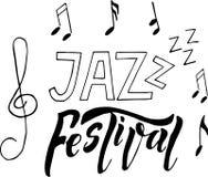 Illustration för affisch för baner för jazzmusikfestival vektor illustrationer